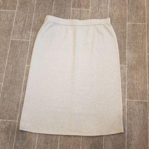 Vintage Toula Champagne  Shimmer Knit Skirt